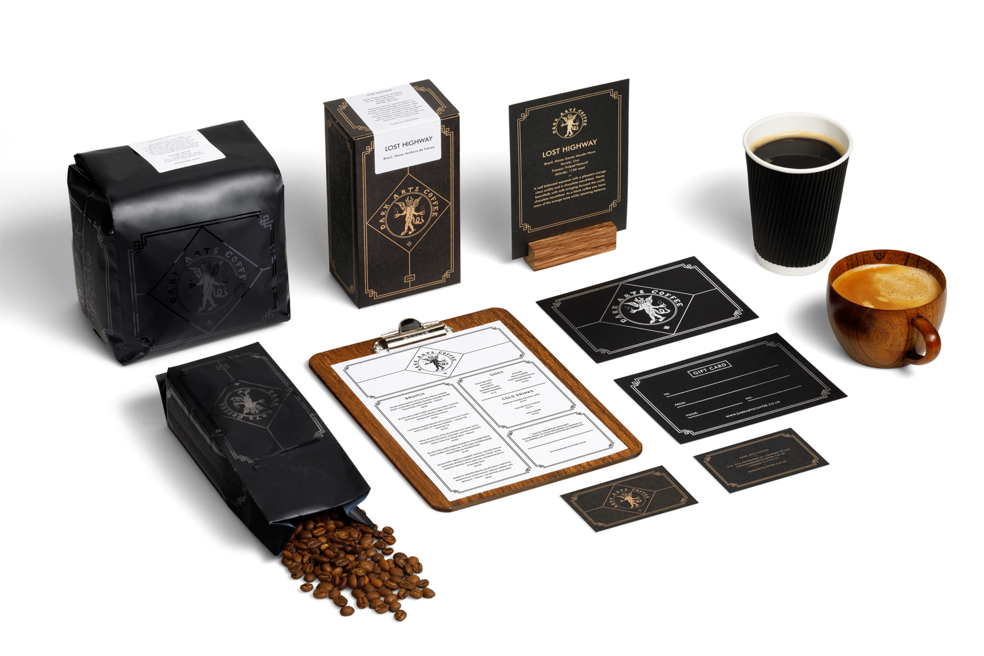 Dark Arts Coffee and Accessories - shot by Traffic Jam Studio for Nick Dart Design.